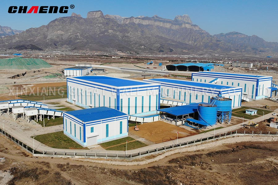Sandstone aggregate production line