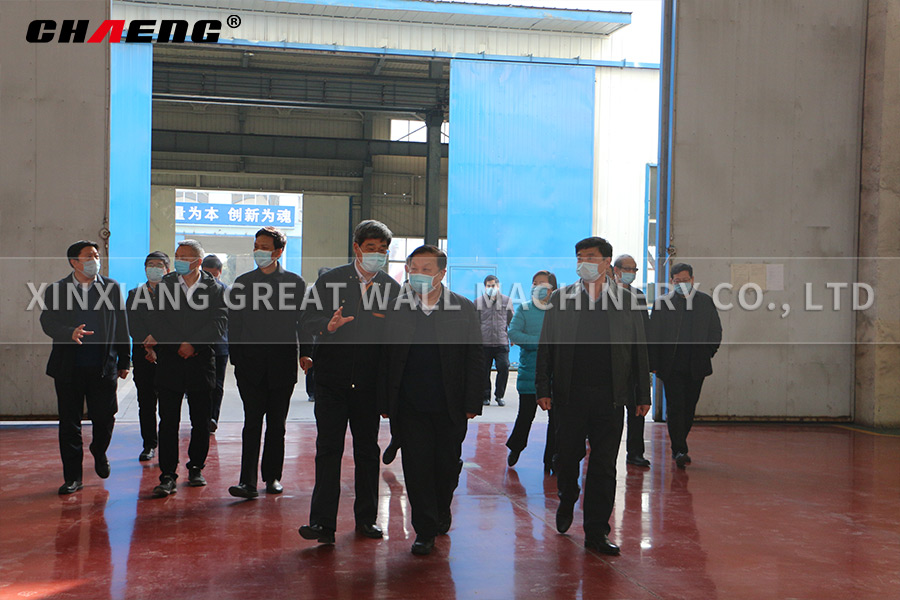 Qi Wenhua, deputy mayor of Xinxiang, came to CHAENG to research our work and production resumption s