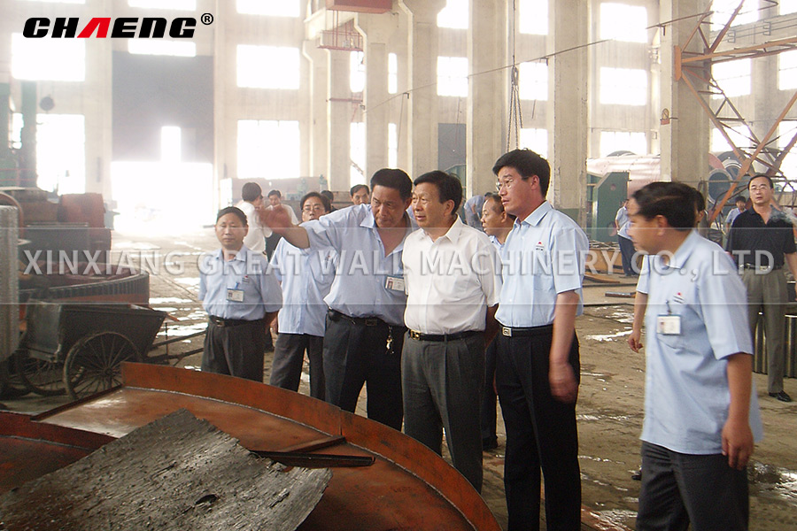 Lei Qianzhi, president of China Cement Association visited CHAENG